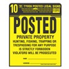 Hy-Ko Products PP-1 10Pk 12X12 Tyvek Sign