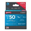 "Arrow 50CT24 1250PK 17/32"" HD Staple, Pack of 4"