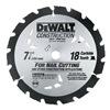"""DEWALT DW3191 7-1/4"""" 18T Circ Blade"""