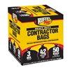 Berry Plastics Corp 1190274 50PK 42GAL BLK Cont Bag