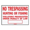 Hy-Ko Prod Co SS-5 No Trespass/Hunt Sign, Pack of 12