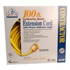 Coleman Cable 01799 100' 10/3 Yel Ext Cord
