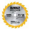"""DEWALT DW9154 6-1/2"""" 24T Wood Blade"""