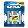 Rayovac 813-2 Rayo 2Pk D Alk Battery