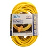 Coleman Cable 3498 50' 12/3 YEL PWR Block