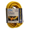 Coleman Cable 03497 25' 12/3 Yel Pwr Block