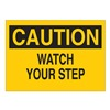 Brady 25610 Caution Sign, 7 x 10In, BK/YEL, PLSTC, ENG