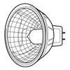 GE Lighting Q20MR16/FL(BAB) Halogen Floodlight, MR16, 20W