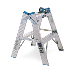 Werner Twin Step Stool, 24 In H, 300 lb., Aluminum at Sears.com