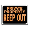 Hy-Ko Products 3016 9X12 Private Prop Sign, Pack of 10