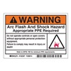 Brady 102307 Arc Flash Protection Label, PK 100
