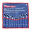 Westward 1LCF4 Ratcheting Wrench Set,  Combination,  Non Slip,  SAE and Metric,  Number of Pieces: 10