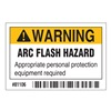 Brady 81106 Arc Flash Protection Label, 2 In. H, PK 10