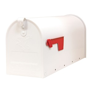 Solar Group WHT STDT1 Rural Mailbox