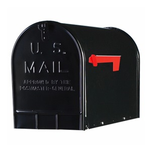 Solar Group BLK T3 Rural Mailbox