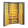 Edsal BC6200G Bin Storage Cabinet, H 72, W 38, 132 Bins