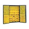 Edsal BC4801G Bin Storage Cabinet, H 72, W 48, 176 Bins