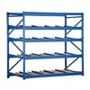 Vestil FLOW-4-5 Gravity Flow Rack, W96, D48, H 84, 5 Shelves