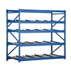 Vestil FLOW-3-4 Gravity Flow Rack, W96, D36, H 84, 4 Shelves