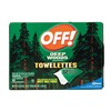 Off Deep Woods OFF! Wipes Repellent Wipe, 6x6 In, PK 12