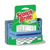 Scotch-Brite 7722 Handled Floor Scrub, 6In L, 4In W, PK12