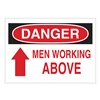 Brady 87793 Danger Sign, 3-1/2 x 5In, R and BK/WHT, ENG
