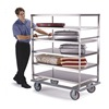 Lakeside 566 Banquet Cart, Stainless, 5 Shelves, 62x28