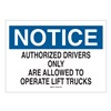 Brady 89129 Notice Security Sign, 7 x 10In, ENG, Text