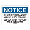 Brady 22780 Notice Sign, 7 x 10In, BL and BK/WHT, ENG