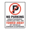 Cosco 98060 Parking Sign, 19 x 15In, R and BK/WHT