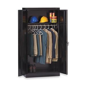 Tennsco Wardrobe Storage Cabinet, Welded, Blck
