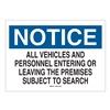 Brady 25819 Notice Security Sign, 10 x 14In, ENG, Text