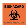 Brady 84217 Biohazard Sign, 10 x 14In, BK/ORN, SURF