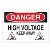 Brady 25540 Danger Sign, 7 x 10In, R and BK/WHT, ENG, HV
