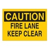 Brady 25640 Fire Lane Sign, 7 x 10In, BK/YEL, ENG, Text