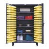 Strong Hold 46-BS-244 Bin Cabinet, H 78, W 48, 4 Shelves, 144 Bins