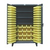 Strong Hold 36-BBS-243 Bin Cabinet, H 78, W 36, 3 Shelves, 110 Bins