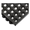 Wearwell 576.58X3X3CFRBK Modular Mat, 3 x 3, CFR, Grit, Open Grid