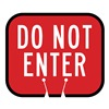 Tapco 535-00016 Traffic Cone Sign, Red w/Wh, Do Not Enter