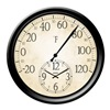 "Taylor 91575 14"" Thermometer/Clock"