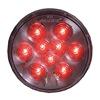 Maxxima AX40RCG-KIT Stop/Tail/Turn Light, LED, Red, Round, 4 Dia