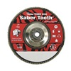 Weiler 50115 Arbor Mount Flap Disc, 7in, 80, Medium