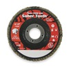 Weiler 50107 Arbor Mount Flap Disc, 4-1/2in, 80, Medium