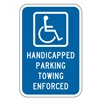 Lyle HC-011-12HA Parking Sign, 18 x 12In, WHT/BL, HDCP