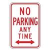 Lyle R7-1D-12HA Parking Sign, 18 x 12In, R/WHT, R7-1D