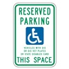 Lyle HC-WI01-12HA Parking Sign, 18 x 12In, GRN and BL/WHT