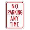 Lyle R7-1-12HA Parking Sign, 18 x 12In, R/WHT, Text, R7-1