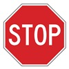 Lyle R1-1-36HA Traffic Sign, 36 x 36In, WHT/R, Stop, Text