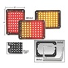 Nova SL3X4AR Warning Light, LED, Amber/Red, Rect, 4-1/4 L
