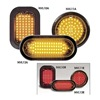 Nova 3920R Warning Light, LED, Rd, Grommet, Ovl, 6-1/2 L